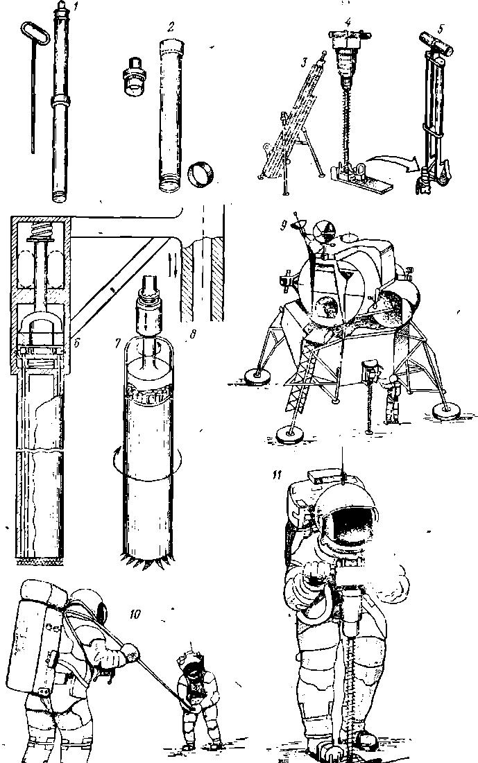 Инструменты и буровые устройства для Луны