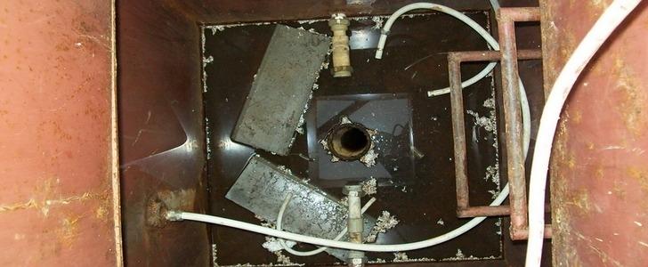 ремонт кессона, кессон ремонт, течь кессона, ремонт кессона для скважины